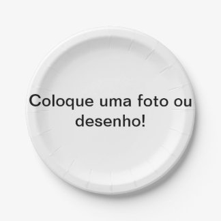 Plate of personalizável paper for parties 7 inch paper plate