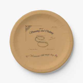 Plate of Sneezing and Choking 7 Inch Paper Plate