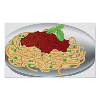 Plate Of Spaghetti Poster