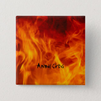 Plate on fire 15 cm square badge