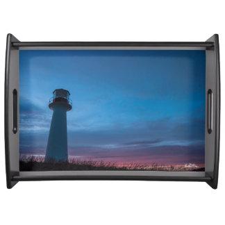 Plate photo headlight serving tray