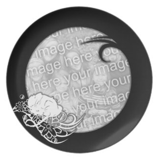 Plate Photo Template - Cat