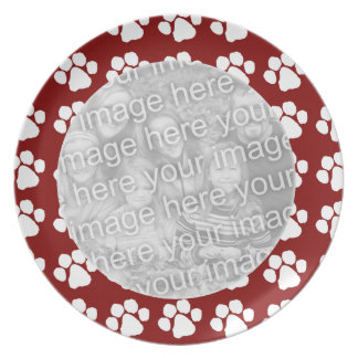 Plate Photo Template - Paw Border