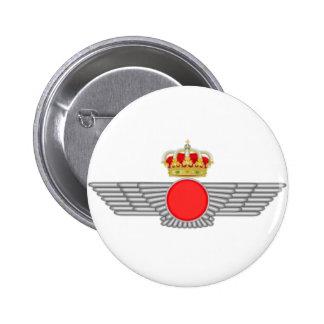Plate pin. Emblem Spanish Air Force 6 Cm Round Badge