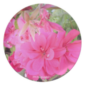 Plate - Pink Flowers