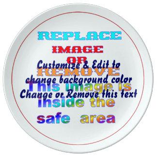 Plate Porcelain Decorative Food, microwave, safe. Porcelain Plates