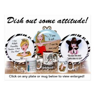 Plate Postcard