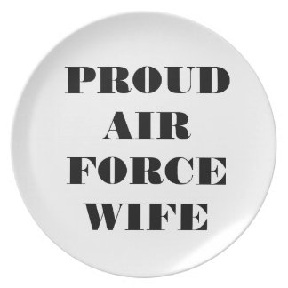 Plate Proud Air Force Wife