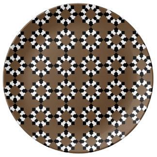 Plate Redondo Porcelain (Brown)