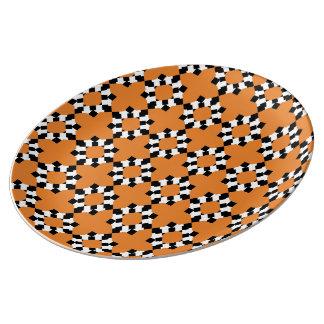 Plate Redondo Porcelain (Orange)