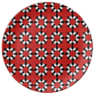 Plate Redondo Porcelain (Red)