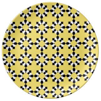 Plate Redondo Porcelain (Yellow)