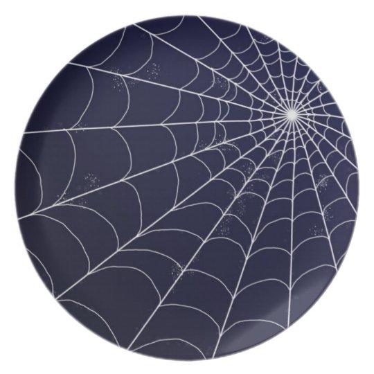 Plate - Spiderweb on Midnight