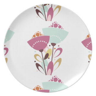 Plate Spring Pink Flowers Floral