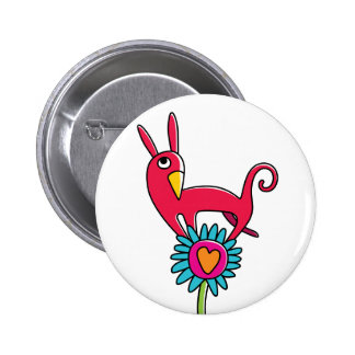 """Plate """"the red Small dog """" 6 Cm Round Badge"""