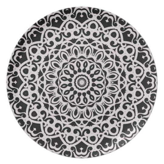 Plate Tribal Mandala G385