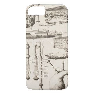 Plate VI: Wind instruments from the Encyclopedia o iPhone 7 Case