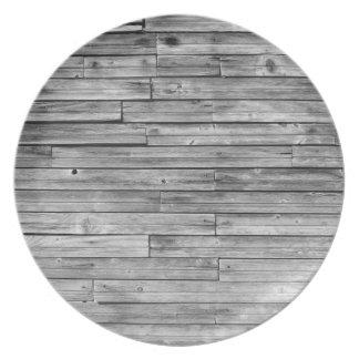 Plate - Weathered Barn Wood