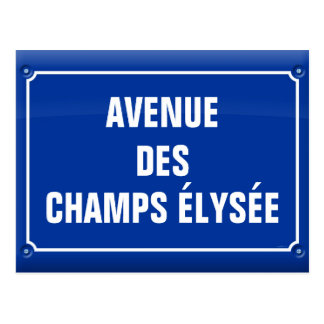 plate which occurred Champs Elysées - FRANCE Postcard