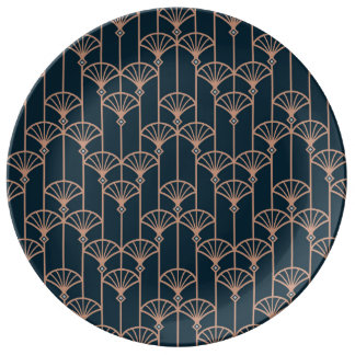 Plate with Art deco pattern