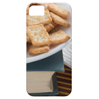 Plate with crackers and cup of tea case for the iPhone 5