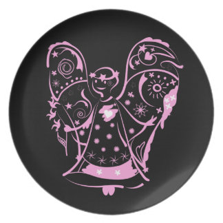 Plate  with decorative angel