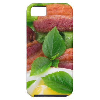 Plate with egg yolk, fried bacon and herbs case for the iPhone 5