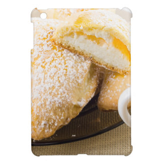 Plate with sweet pastries with sweet cheese iPad mini case