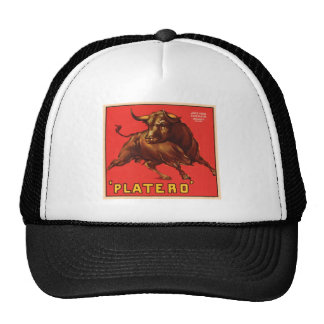 Platero Vintage Crate Label - Bull Hat
