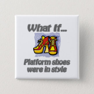 platform shoes 15 cm square badge