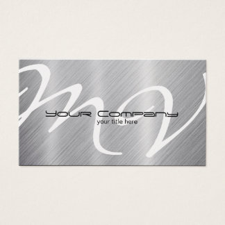 Platinum / Aluminum 'look' Business Cards