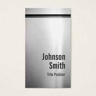 Platinum Aluminum Stainless Steel Look Business Card