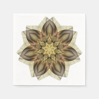 Platinum and Gold Flower Napkins Disposable Napkin