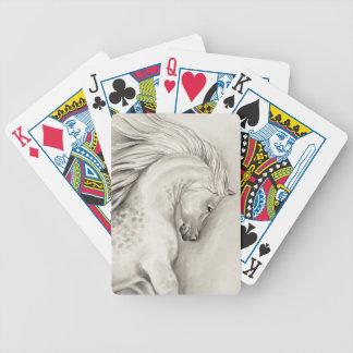 Platinum arabian bicycle playing cards