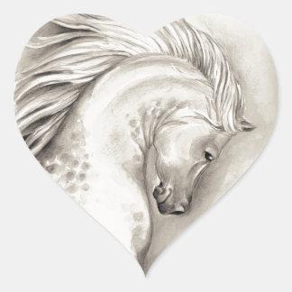 Platinum arabian heart sticker