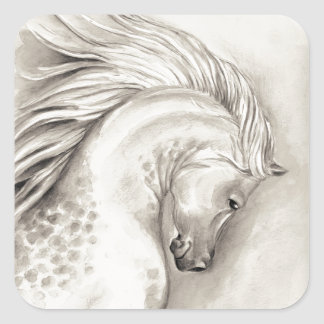 Platinum arabian square sticker