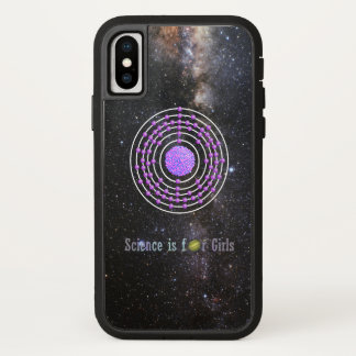 Platinum Atom Science is for Girls iPhone X Case