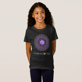 Platinum Atom Science is for Girls T-Shirt