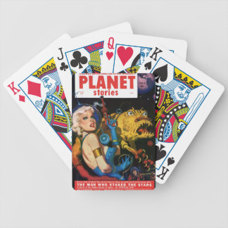 Platinum Blonde and her Monster Friend Bicycle Playing Cards