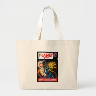 Platinum Blonde and her Monster Friend Large Tote Bag
