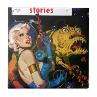 Platinum Blonde and her Monster Friend Tile
