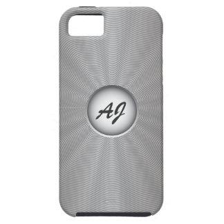 Platinum Chrome with Custom Text iPhone 5 Case