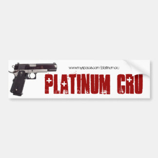 Platinum Cru Bumper Sticker