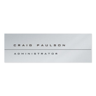 Platinum Different Slim Stylish Modern Pack Of Skinny Business Cards