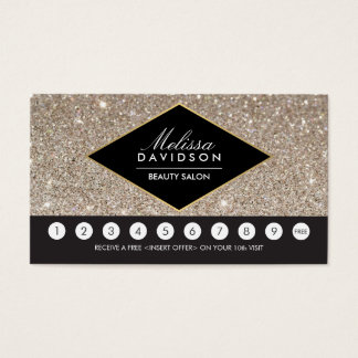 Platinum Glitter and Glamour Salon Loyalty Card