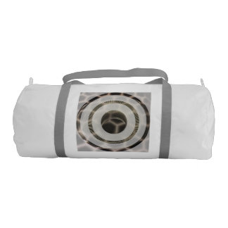 Platinum gold abstract rings, lines and texture gym duffel bag