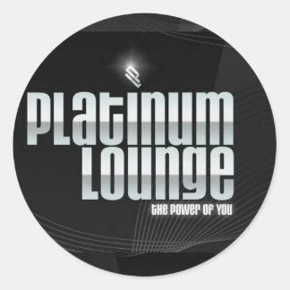 Platinum Lounge Sticker (black)