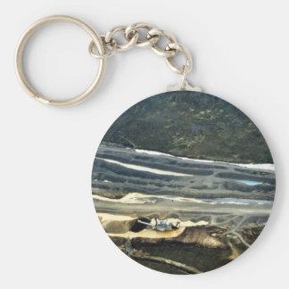 Platinum Mining Aerial View Key Ring
