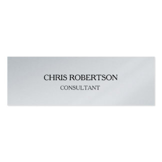 Platinum Plain Attractive Special Modern Double-Sided Mini Business Cards (Pack Of 20)