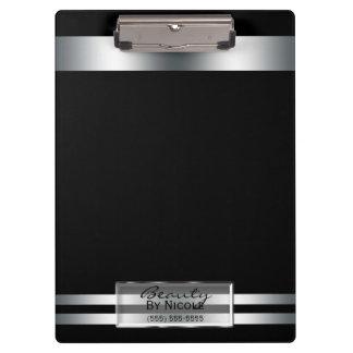 Platinum Silver Shine Elegant Glam Personalized Clipboard